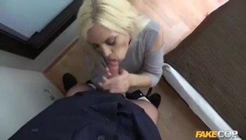 Titty fuck on a horny chick with enormous jugs