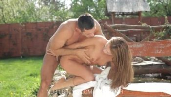 Angel is ecstatic in giving fellow a anal riding